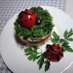 Салат в формочке - рецепт и технология приготовления