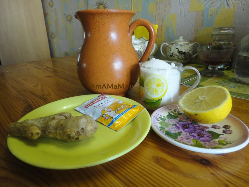 Рецепты прохладительных напитков - лимонад имбирный