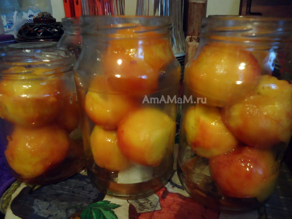 Как консервировать персики в сиропе - компот