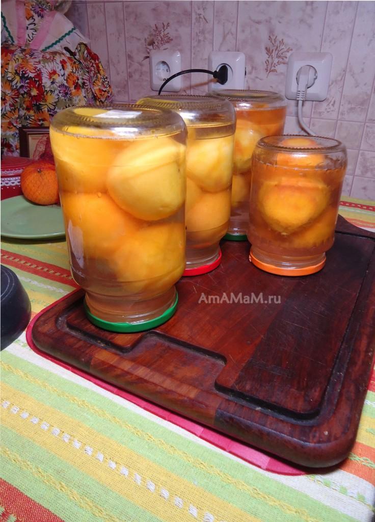 Как консервировать персики на зиму - рецепт