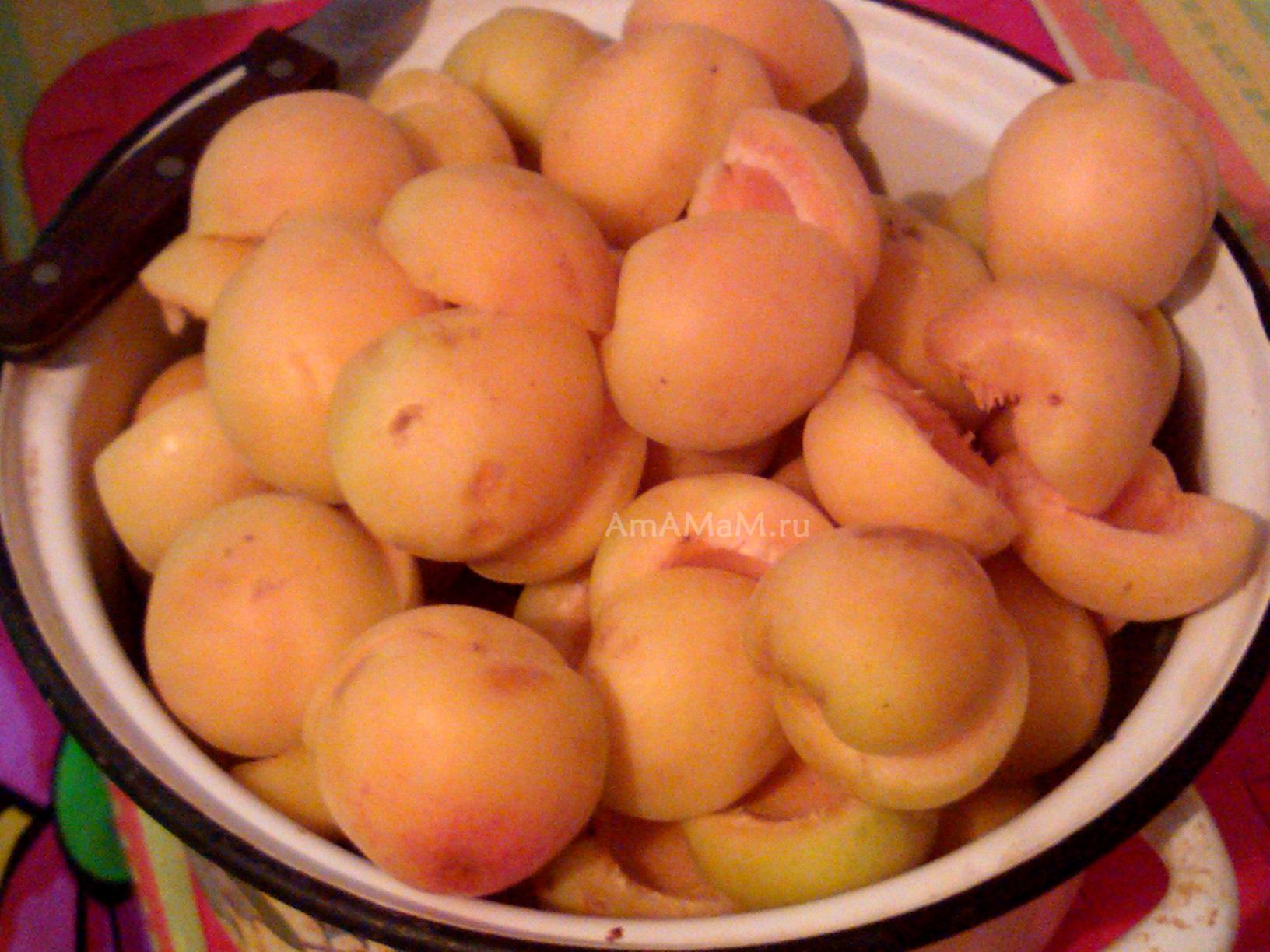Чистка абрикосов для варенья