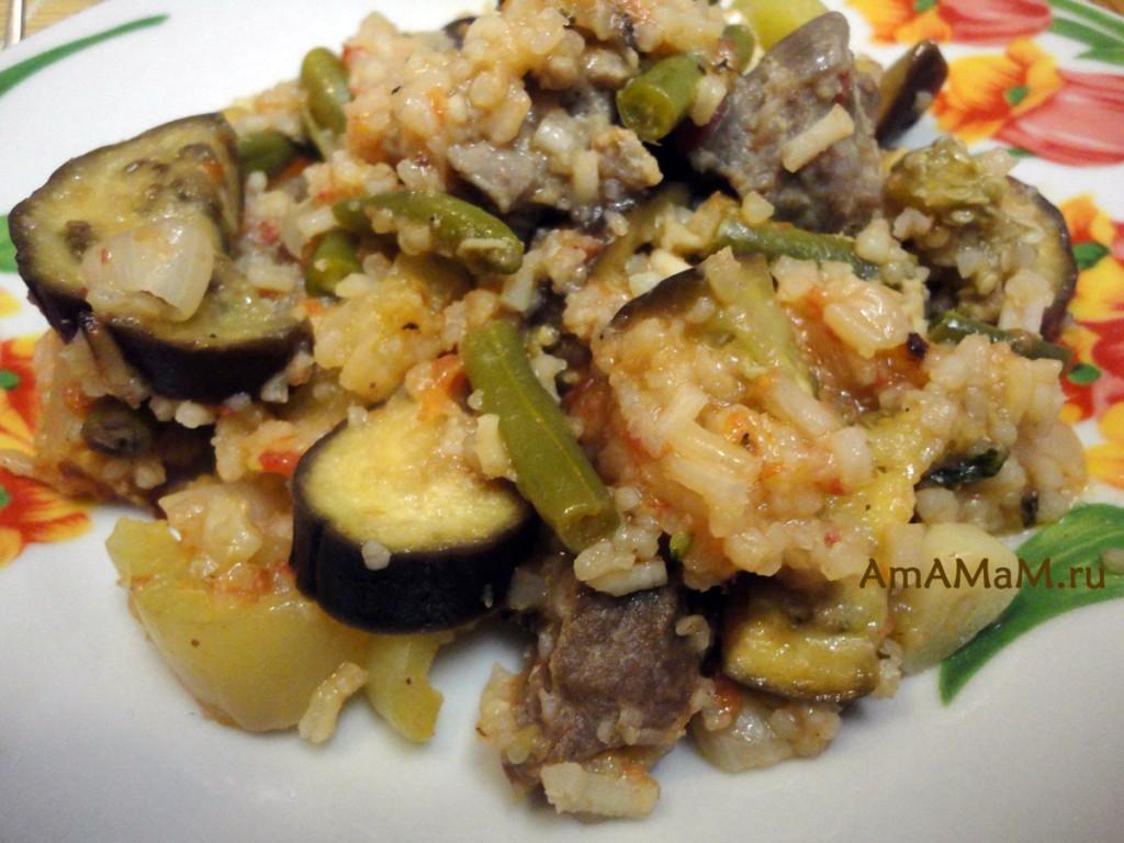 Рецепты баранины с баклажанами и рисом