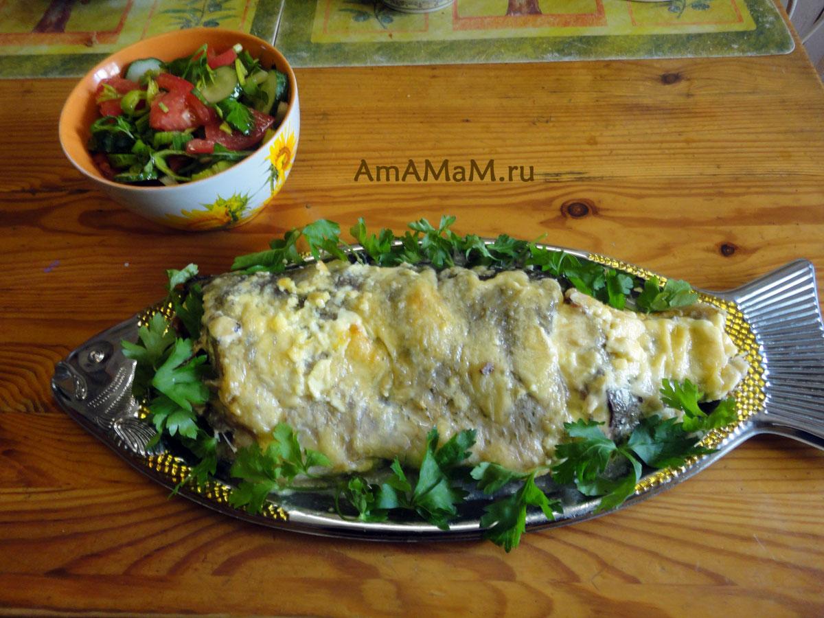 Речная рыба в духовке с майонезом рецепты