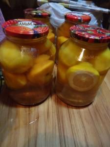 Рецепт компота из персиков - на зиму