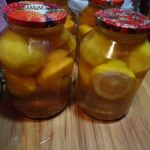 Персиковый компот с лимоном на зиму