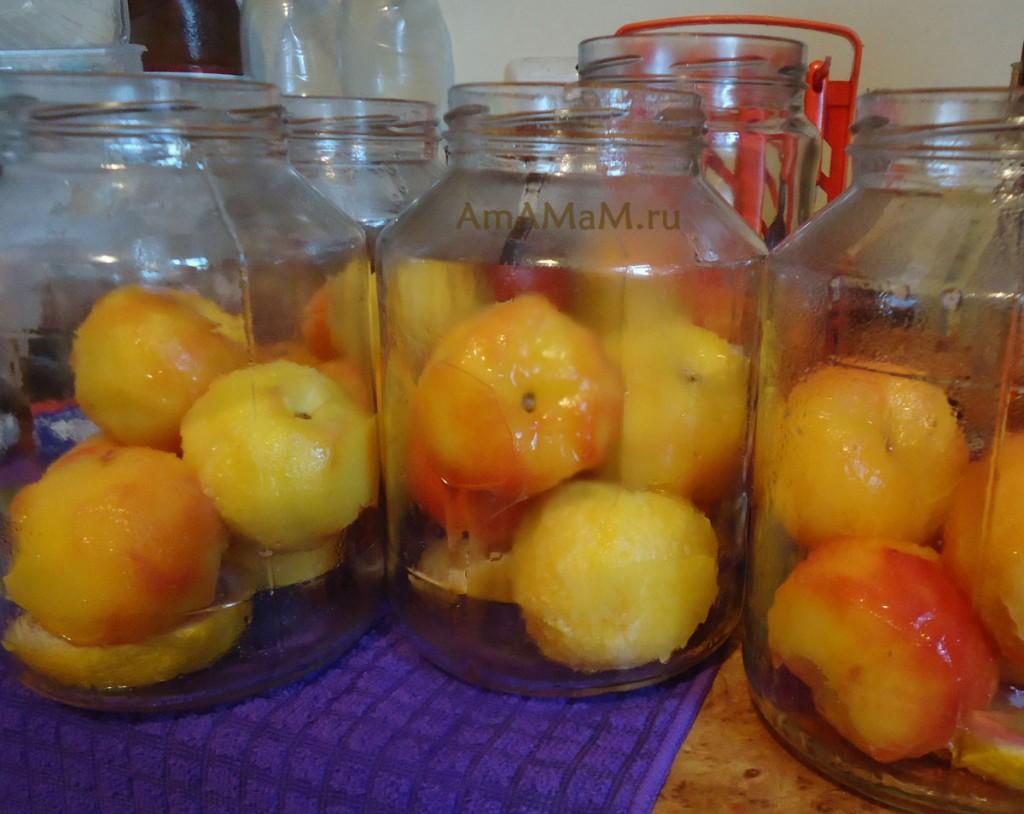 Заготовка персиков - интересные рецепты
