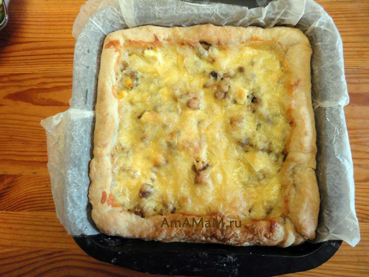 Пирог с мясной начинкой рецепт пошагово в духовке