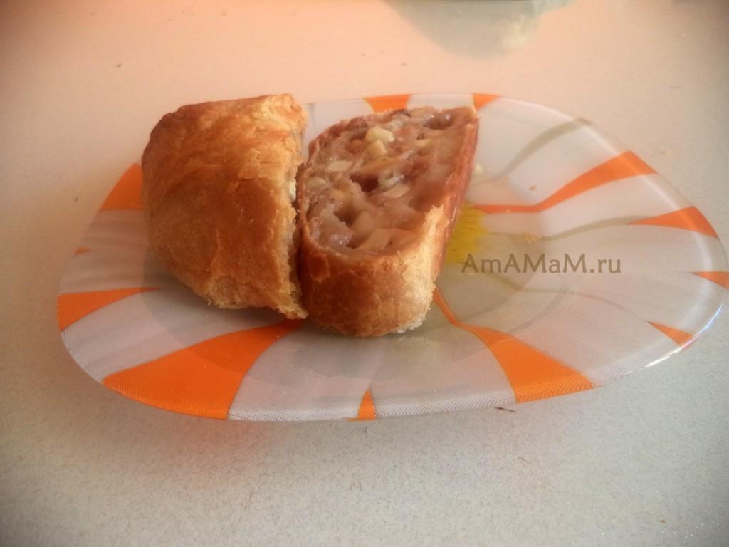 Как подавать штрудель - рецепт приготовления и нарезка