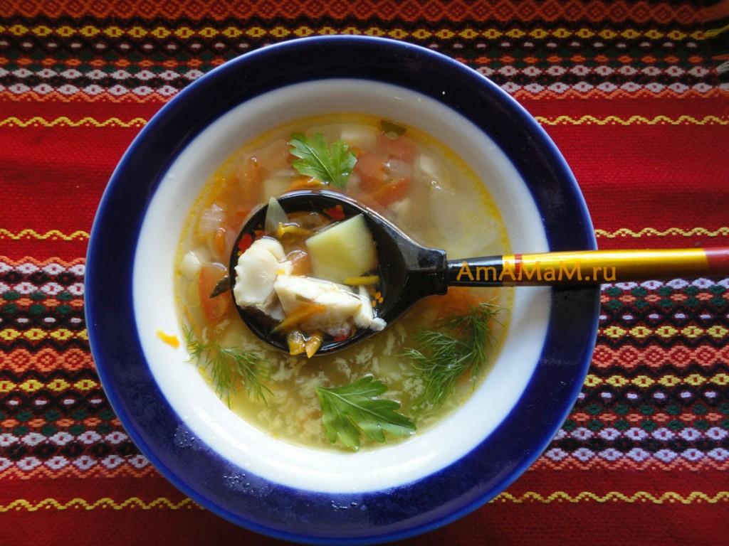 Рыбный суп из морского окуня с картофелем