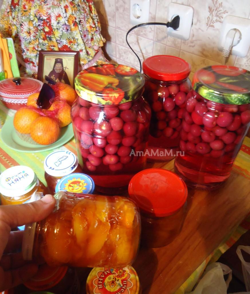 Компот из вишни - рецепт заготовки и фото