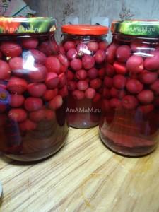 Заготовка вишни на зиму - рецепт компота