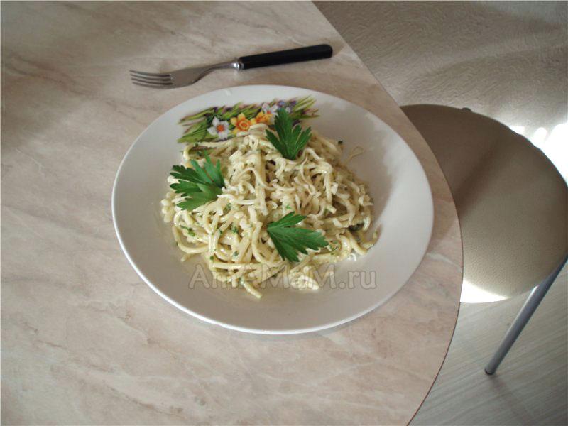 Что вкусненького приготовить на ужин - рецепт спагетти с рыбным соусом