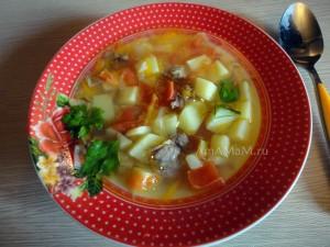 Приготовление супа из бараньих ребрышек или ягнятины