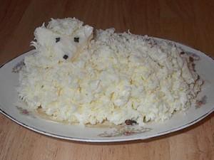Как сделать овечку из сливочного масла - фото