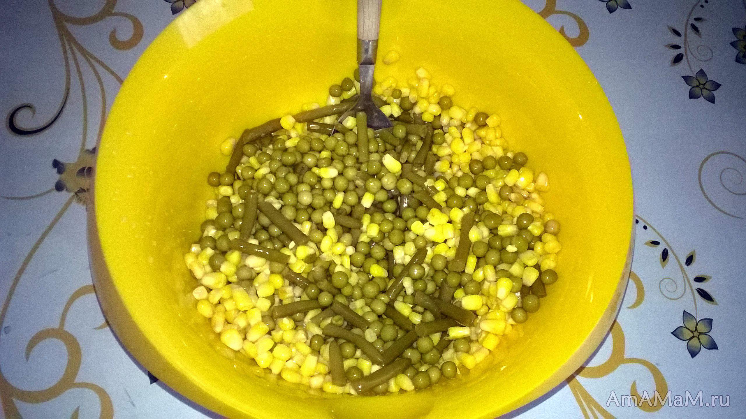 рецепт салата с фасолью лобио из