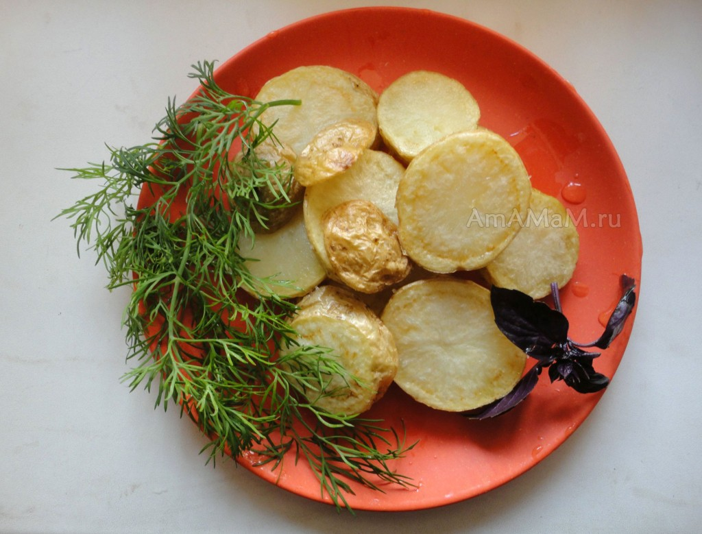 Как делают картошку в мундире - рецепт жарки
