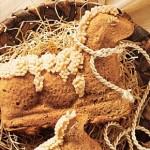 Пирог на год Козы (Овцы) в форме овечки