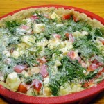 Рецепт пирога с овощами в заливке и под сыром