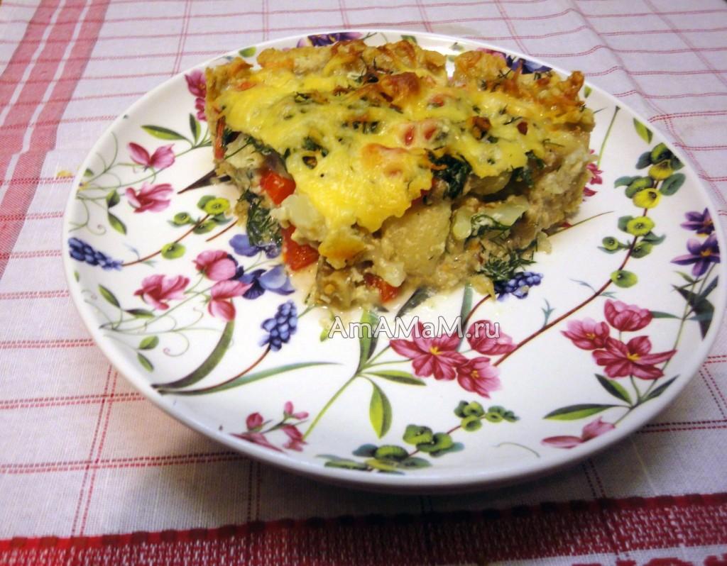 Что приготовить из цветной капусты - открытый пирог по-французски
