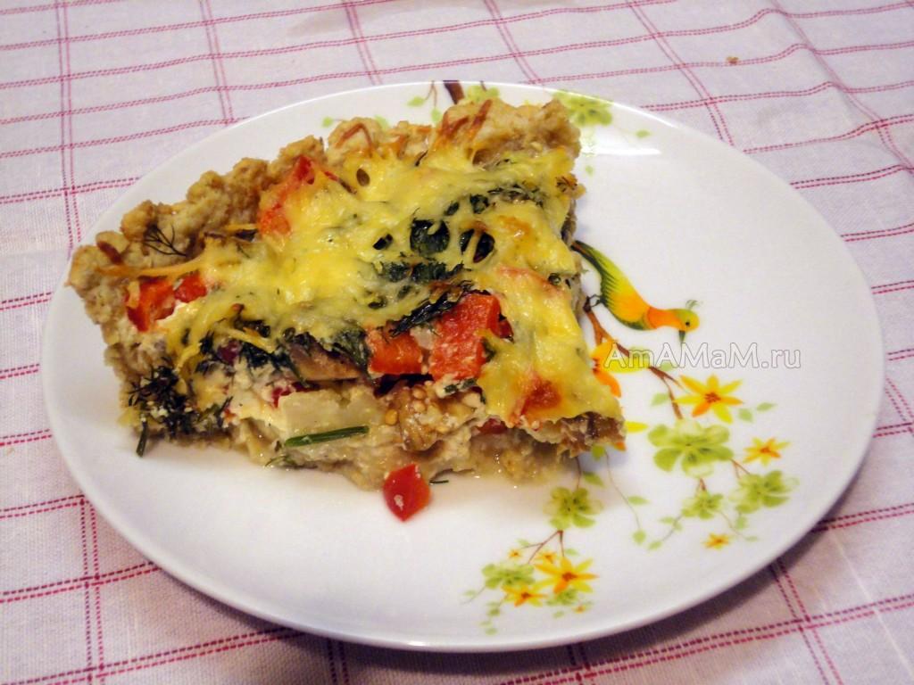 Приготовление открытого пирога с цветной капустой - рецепт