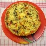 Киш с цветной капустой (открытый пирог)