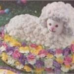 Фигурные торты в форме овцы, козы, барашка - фото