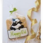 Праздничное печень в глазурью (нарисована овечка)