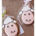 Как разрисовать печенье овечками - фото