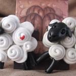 Как сделать овечек из крема - фото