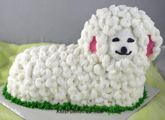 Как сделать торт в виде козы или овцы - фото