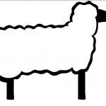Как нарисовать овечку в профиль - шаблон
