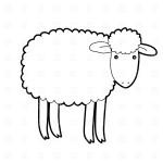 Рисунок простой овечки