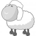 Раскраска-овечка