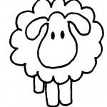 Как нарисовать овечку - простой рисунок, силуэт