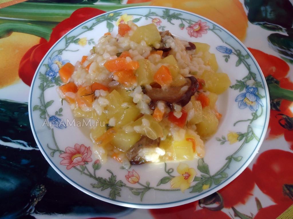 Постные блюда с кабачками и рисом