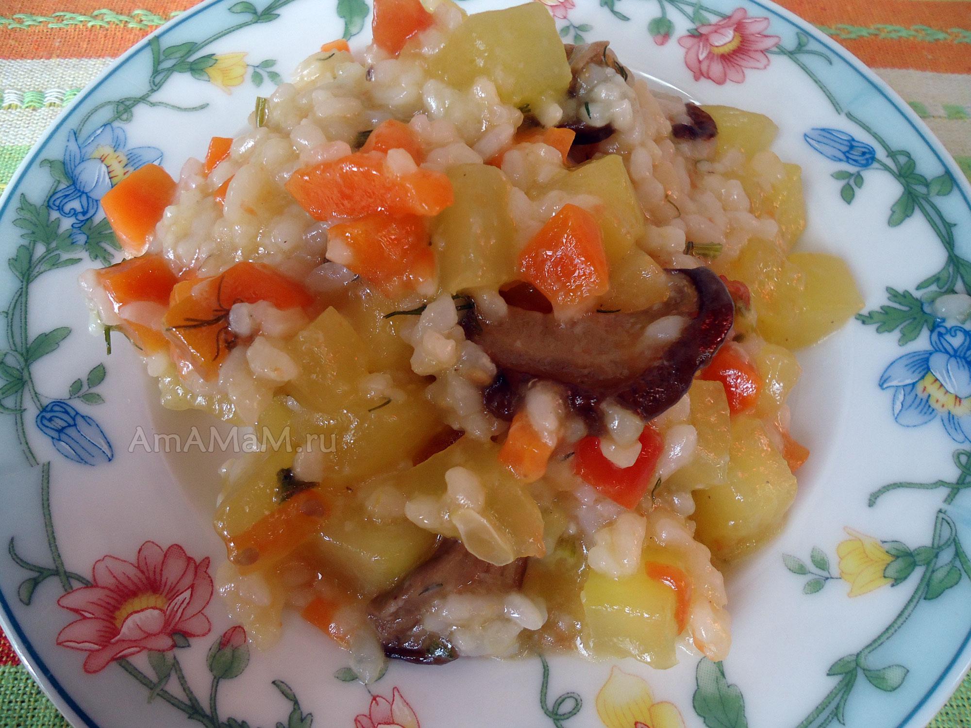 рецепт рагу с сушеными грибами
