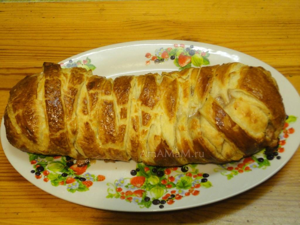 Рецепт пирога с начинкой из фарша и вареных яиц
