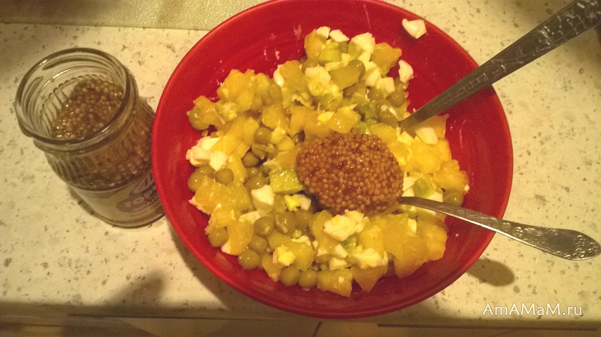 рецепты праздничного салата из курицы с ананасом