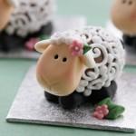 Изготовление овечек на Новый год-2015 или на Пасху
