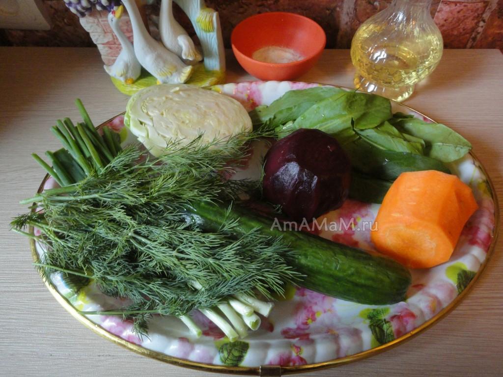 Простой салат из овощей с орехами - состав блюда, фото и рецепт