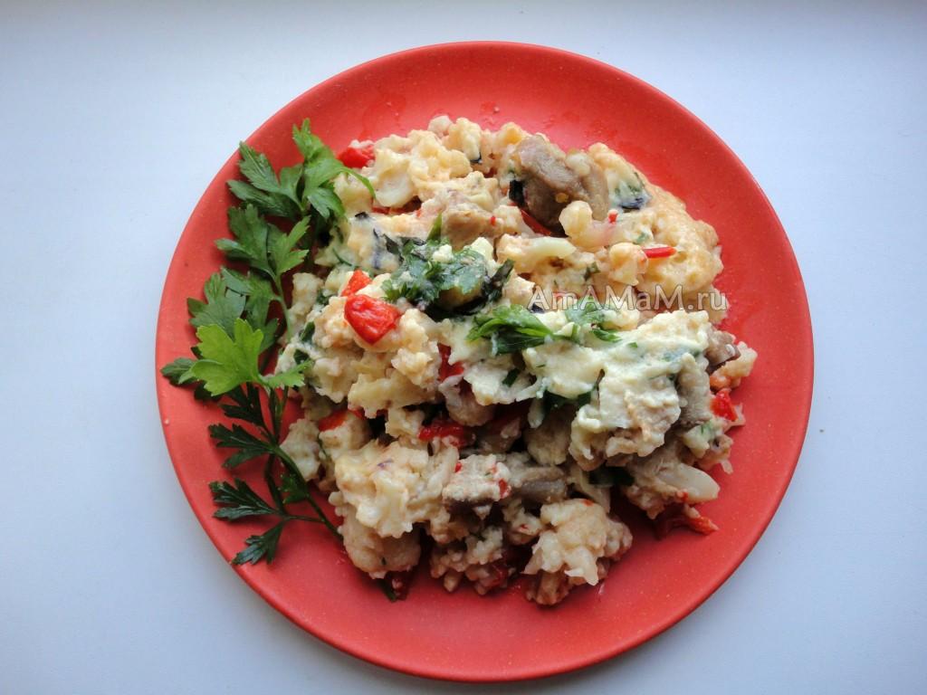 Рецепты из цветной капусты с мясом