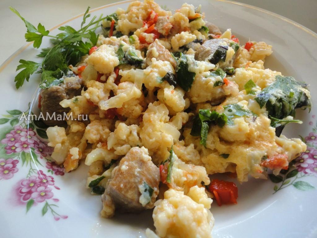 Что приготовить с капустой цветной и свининой - рецепт рагу