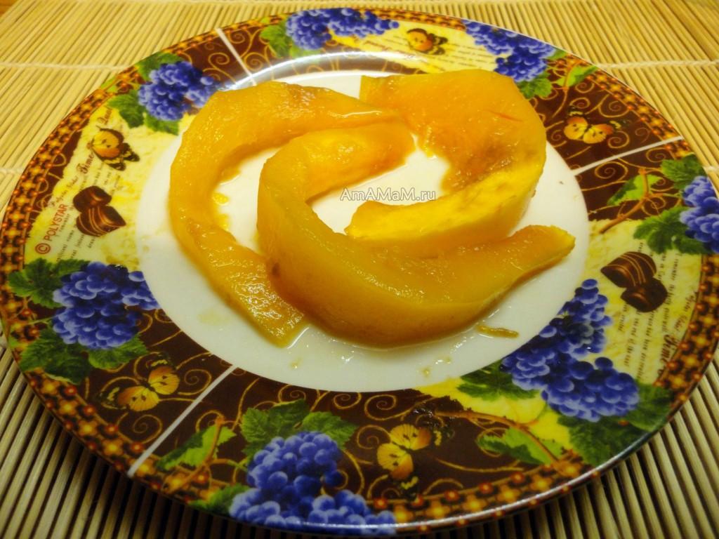 Дольки тыквы в меду - фото и рецепт