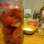 Маринованные помидоры дольками на скорую руку