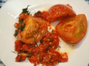 Быстро маринованные помидоры по-корейски