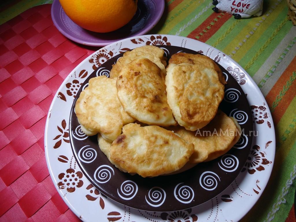 Апельсиновые оладьи без молока и сахара - рецепт и фото