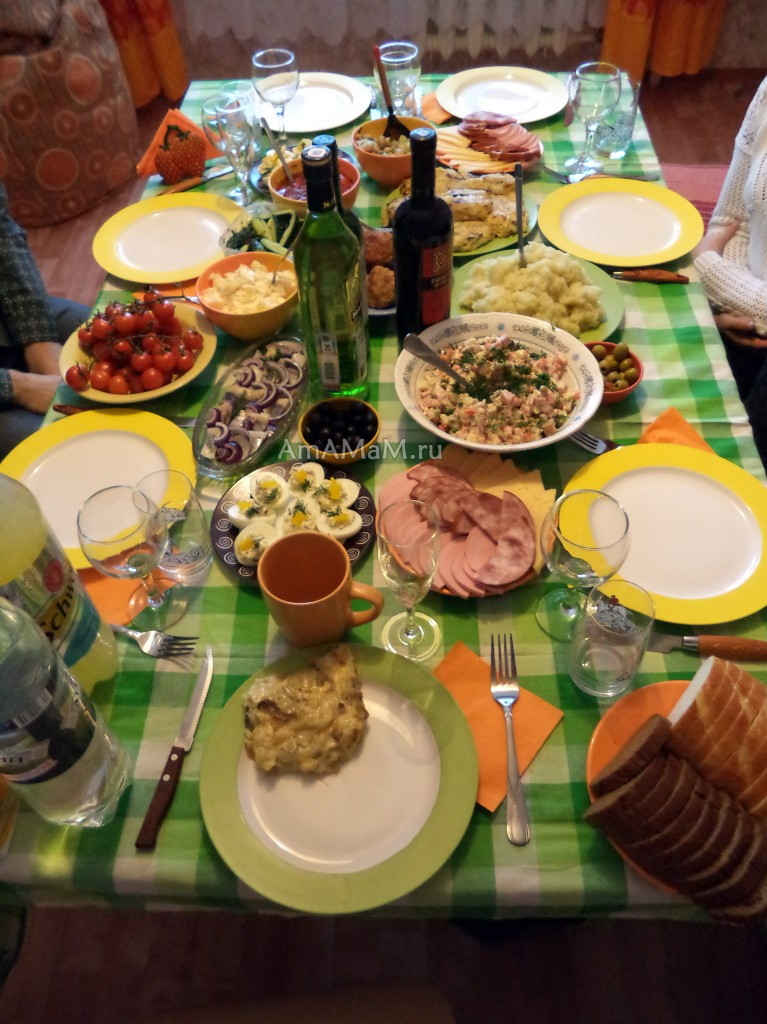 Рецепты для праздника: салаты, горячее, закуски