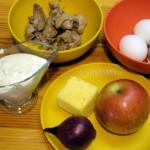 Ингредиенты салат из куриной печенки