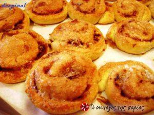 Рецепт сладких булочек-улиток с яблочной начинкой