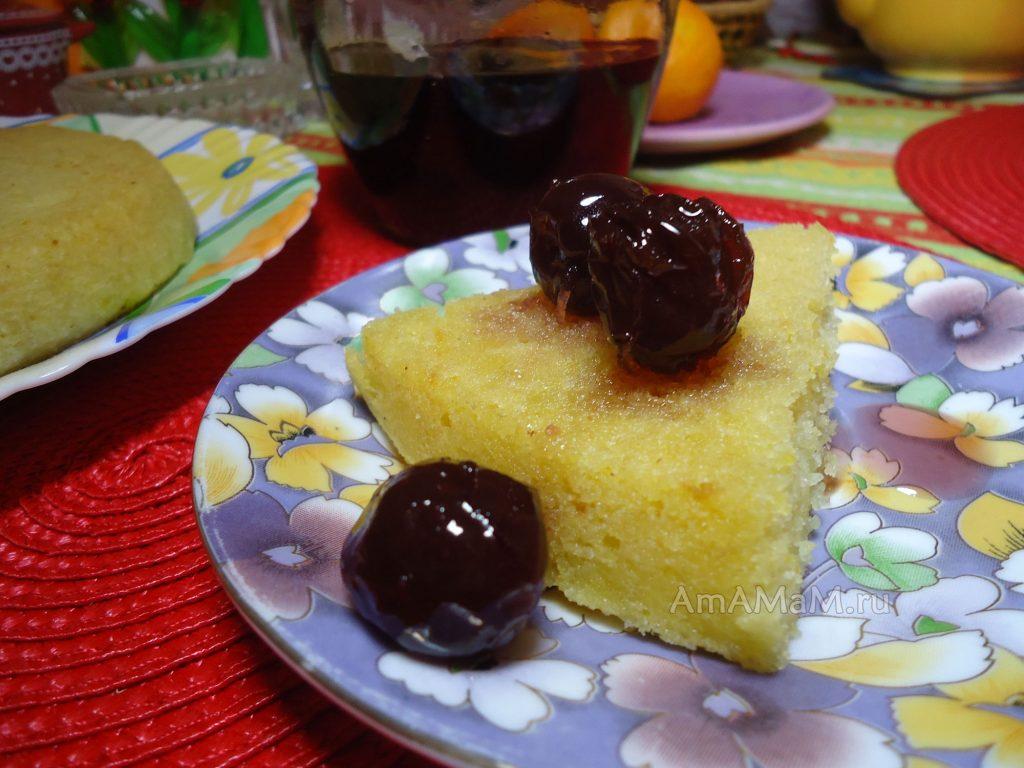 Рецепт манника с апельсинами - просто и вкусно
